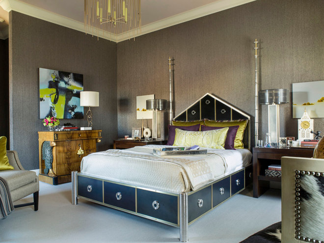 Eclectic Bedroom by Brian Dittmar Design, Inc.