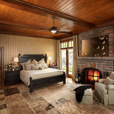 Rustic Bedroom by Barnard  & Speziale | The Interior Design Company