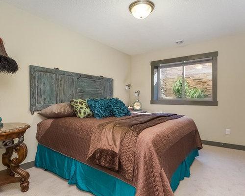 rustikale schlafzimmer mit porzellan bodenfliesen ideen. Black Bedroom Furniture Sets. Home Design Ideas
