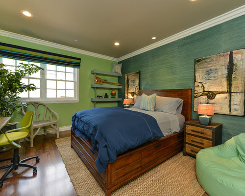 Rustic green bedroom design ideas renovations photos for H b bedrooms oldham