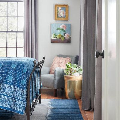 Bedroom - country bedroom idea in Boston