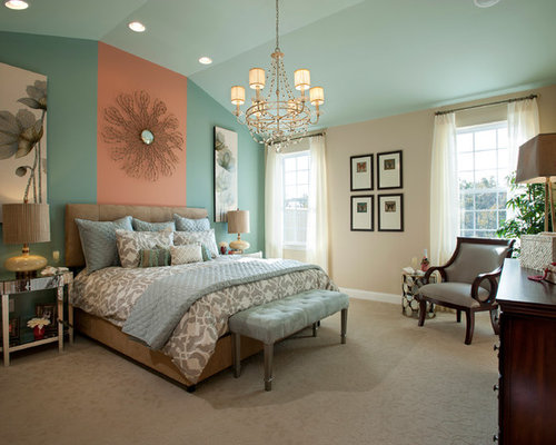 Salmon Accents Home Design Ideas, Pictures, Remodel and Decor