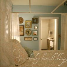 Eclectic Bedroom Thrifty Guest Room and Stenciled Floor