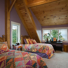 Contemporary Bedroom by Woodhouse Post & Beam Homes
