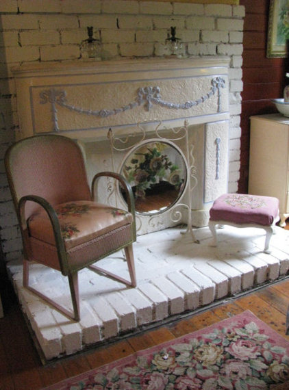 traditional bedroom Time Worn Style ~ Boudoir Fireplace