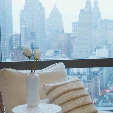 Timeless Transitional Tribeca Apartment Master Bedroom - Interior De