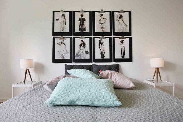 15 idee per esporre i vostri ritratti fotografici in - Quadro sopra letto ...