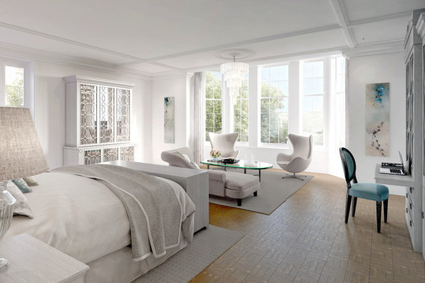 Transitional Bedroom by Julie Kent Interiors