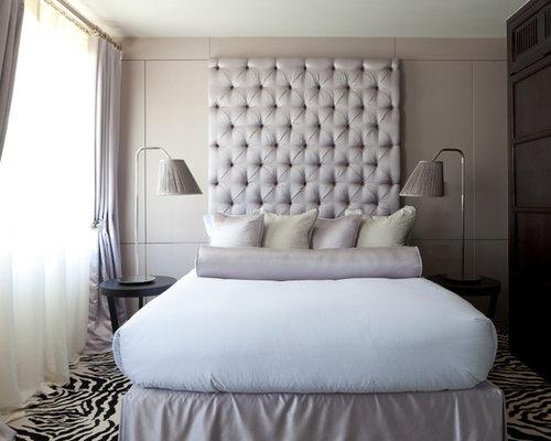 High back bed houzz for Bed back design