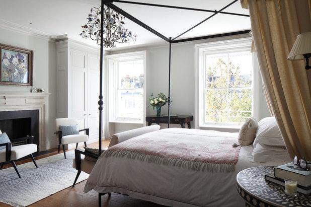 Transitional Bedroom by Devas Designs