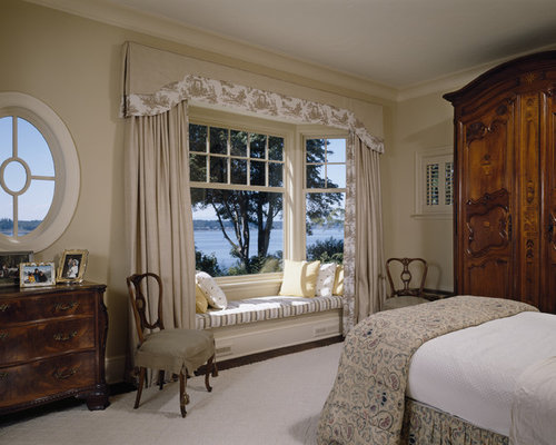 Contemporary Bay Window Ideas A Timeless Bedroom Remodel In Seattle With Beige Walls On Design