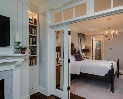 houzz  interior french doors transoms bedroom design ideas, Bedroom decor