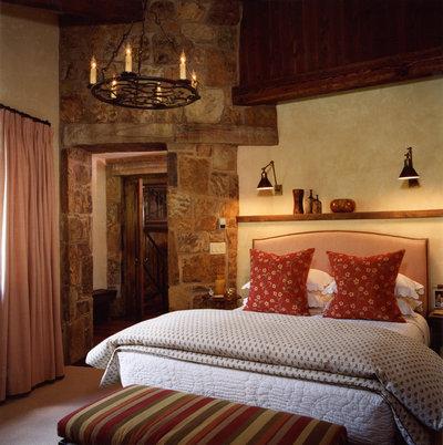 Simple Rustic Bedroom Traditional Bedroom