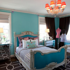 eclectic bedroom by Amanda Austin Interiors