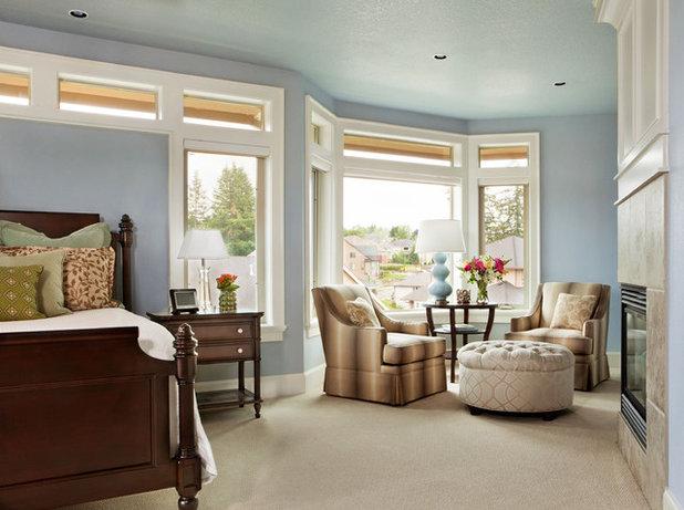 American Traditional Bedroom by Garrison Hullinger Interior Design Inc.