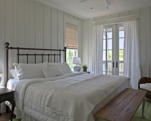 Elegant Bedroom Photo In Miami With White Walls