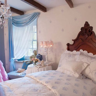 Example of a classic bedroom design in Philadelphia with multicolored walls