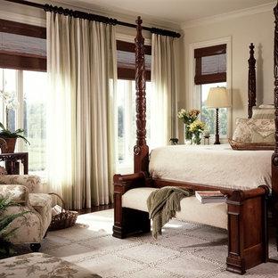 Delicieux Elegant Bedroom Photo In Miami With Beige Walls