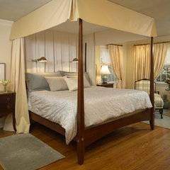 traditional bedroom by Kristina Melo w/ The Rosen Group Interiors