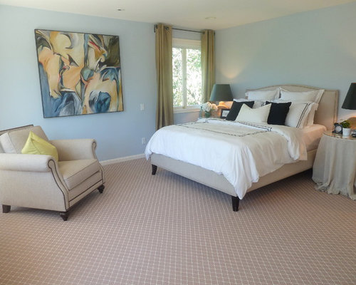 Bedroom carpet houzz for Bedroom ideas red carpet