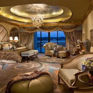 Elegant bedroom photo in Miami