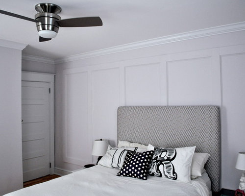 Traditional Bedroom Idea In Philadelphia With Gray Walls