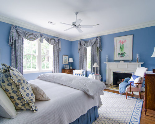 blue and white bedroom houzz