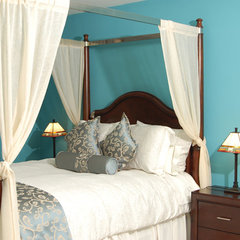 traditional bedroom by Marie Burgos Design