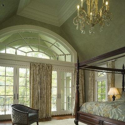 Elegant master bedroom photo in Atlanta