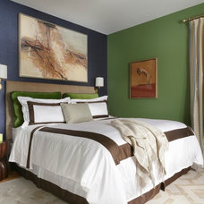 Transitional Bedroom by Ann Lowengart Interiors