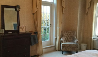 Traditional swags and tails design for bedroom and reception areas