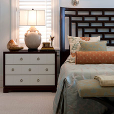 Transitional Bedroom by deakins design group