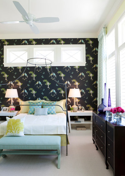 Transitional Bedroom Tranquil Eclectic Residence