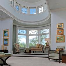 Transitional Bedroom by deakins design group