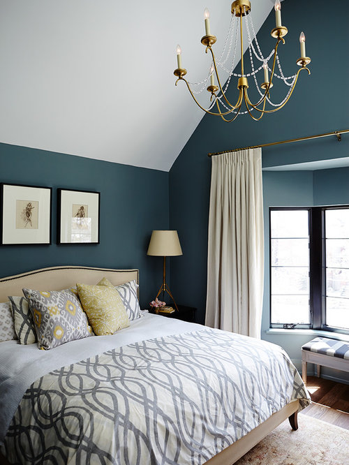 Teal bedroom houzz for Teal bedroom