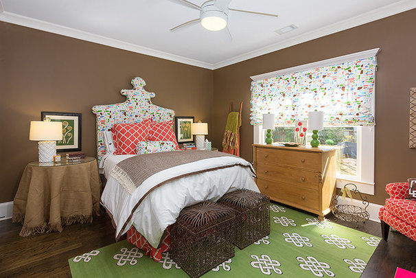 Transitional Bedroom by Colordrunk Designs