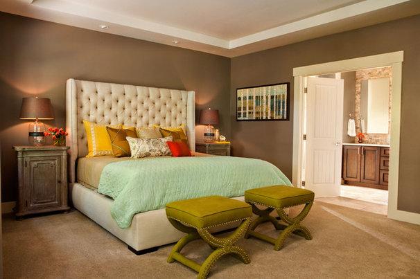 Transitional Bedroom by Garrison Hullinger Interior Design Inc.