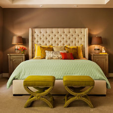 Eclectic Bedroom by Garrison Hullinger Interior Design Inc.