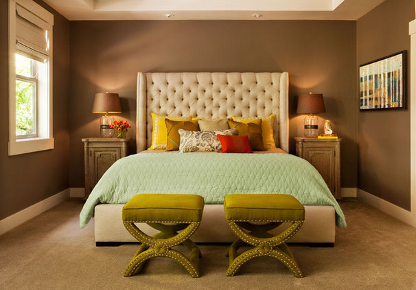 Transitional Bedroom by Garrison Hullinger Interior Design Inc.