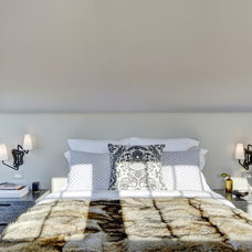 Transitional Bedroom by Val Florio AIA Architect