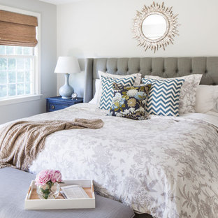 Beau Transitional Guest Carpeted Bedroom Photo In Boston With Beige Walls