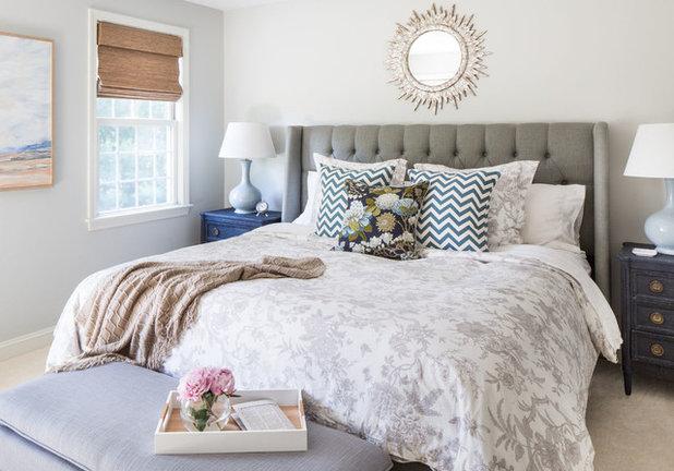 Transitional Bedroom by Jamie Keskin Design