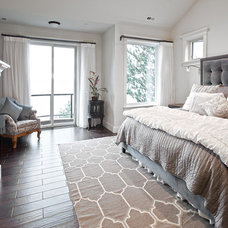 Transitional Bedroom by John F Buchan Homes