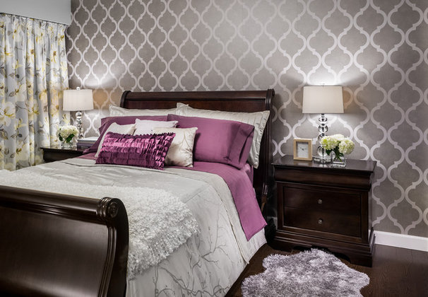 Transitional Bedroom by Leanne McKeachie Design