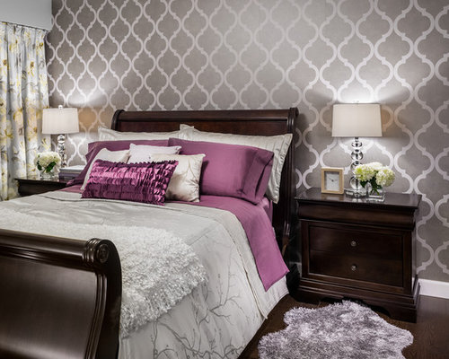 Best Bedroom With Wallpaper Design Ideas Remodel Pictures Houzz