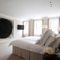 Transitional Bedroom by Rebecca McAlpin Photography