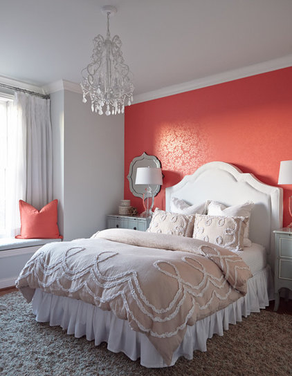 Transitional Bedroom by Red Leaf Interiors, LLC