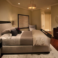 Transitional Bedroom by Renée Gaddis Interiors