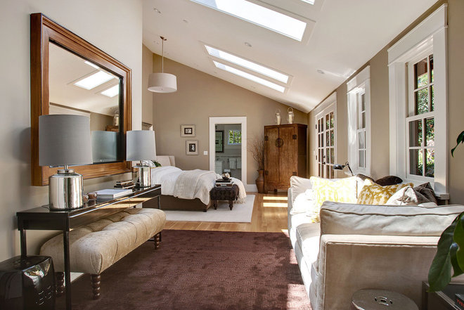 Transitional Bedroom by Urrutia Design
