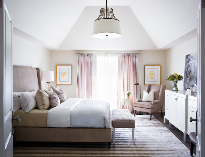 Transitional Bedroom by Elizabeth Metcalfe Interiors & Design Inc.